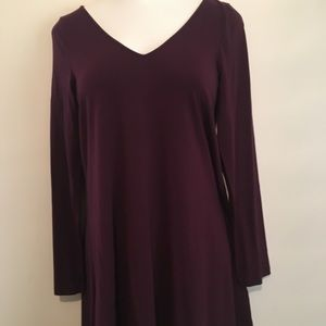Express long sleeve tunic in a deep plum color.